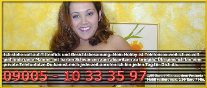 2 Titten Telefonsex dicke Anja